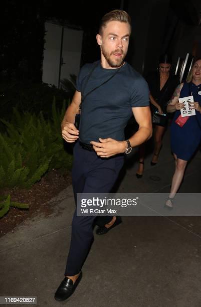 Derek Hough is seen on September 18 2019 at Los Angeles