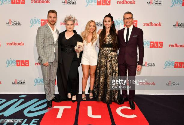 Derek Hough Kelly Osbourne Jessie Chris Jazz Jennings and Randy Fenol attend 2018 TLC's Give A Little Awards on September 20 2018 at Park Hyatt in...
