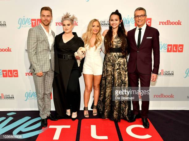 Derek Hough Kelly Osbourne Jessie Chris Jazz Jennings and Randy Fenoli attend the 2018 TLC's Give A Little Awards on September 20 2018 at Park Hyatt...