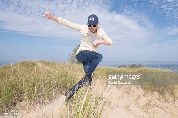 Derek Hough partners with The National Park Foundation to explore Indiana Dunes National Lakeshore on September 26 2017 in Porter Indiana