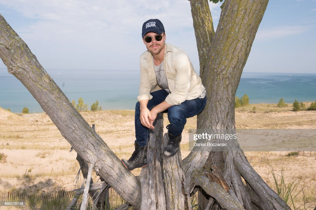 Derek Hough Partners With The National Park Foundation To Explore Indiana Dunes National Lakeshore : News Photo
