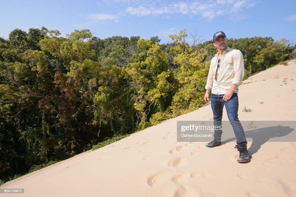 Derek Hough partners with The National Park Foundation to explore Indiana Dunes National Lakeshore on September 26, 2017 in Porter, Indiana.