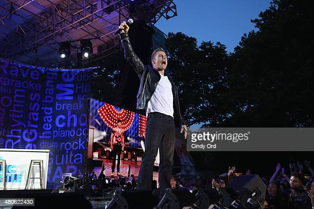 Derek Hough performs during the Lip Sync Battle LIVE At SummerStage In New York on July 13 2015 in New York City
