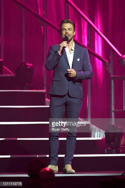 Derek Hough speaks at the 24th annual Keep Memory Alive 'Power of Love Gala' benefit for the Cleveland Clinic Lou Ruvo Center for Brain Health at MGM...