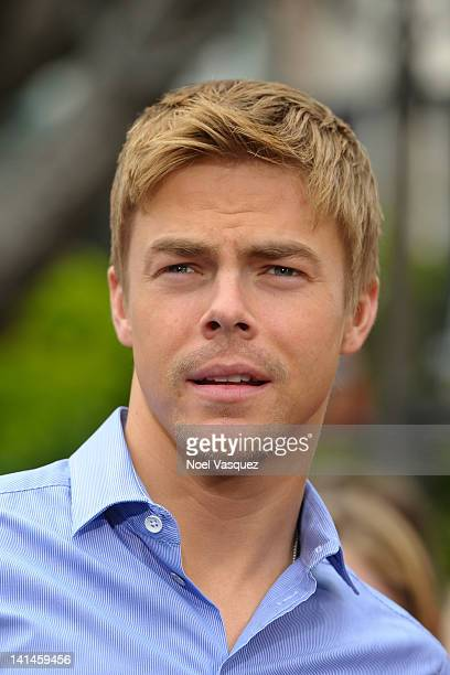 Derek Hough visits Extra at The Grove on March 16 2012 in Los Angeles California