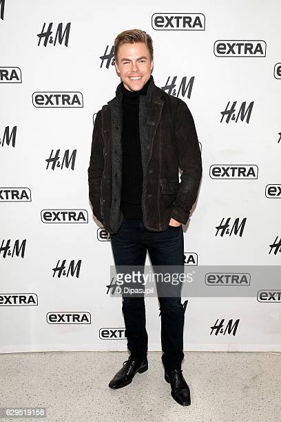 Derek Hough visits Extra at their New York studios at HM in Times Square on December 13 2016 in New York City