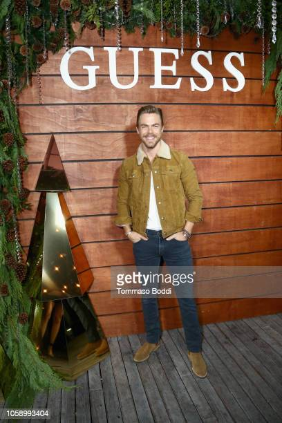 Derek Hough wearing GUESS attends the GUESS Holiday 2018 Event on November 7 2018 in West Hollywood California