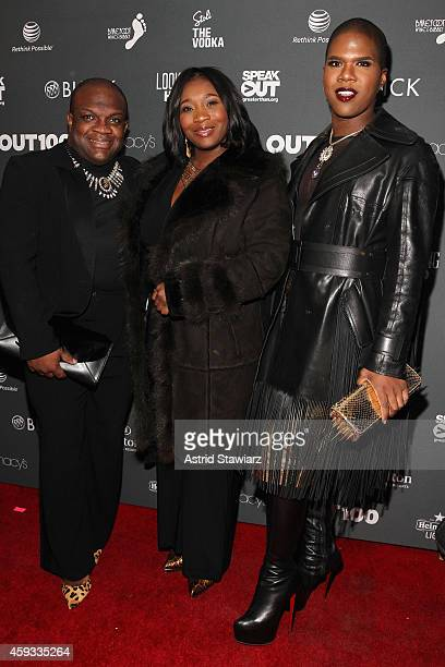 Derek J Bevy Smith and Lawrence Washington of Fashion Queens attend Out100 2014 presented by Buick on November 20 2014 in New York City