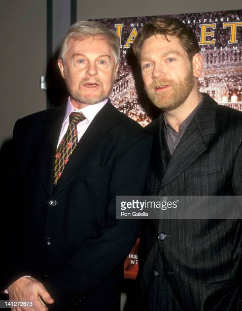 Derek Jacobi and Kenneth Branagh at the NY Premiere of 'Hamlet' Walter Reade Auditorium at Lincoln Center New York City