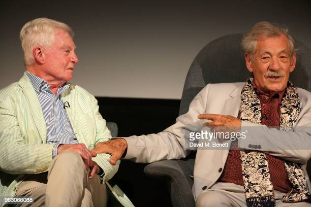 Derek Jacobi and Sir Ian McKellen attend a special screening of 'McKellen Playing the Part' at the BFI Southbank on May 27 2018 in London England