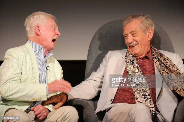 Derek Jacobi and Sir Ian McKellen attend a special screening of McKellen Playing the Part at the BFI Southbank on May 27 2018 in London England
