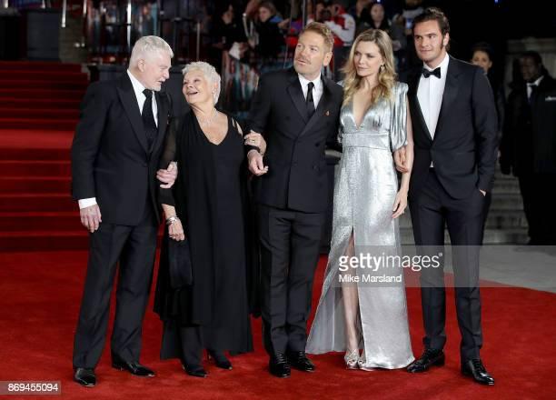 Derek Jacobi Dame Judi Dench Kenneth Branagh Michelle Pfeiffer and Tom Bateman attend the 'Murder On The Orient Express' World Premiere at Royal...