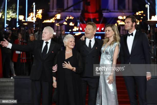Derek Jacobi Dame Judi Dench Kenneth Branagh Michelle Pfeiffer and Tom Bateman attend the 'Murder On The Orient Express' World Premiere held at Royal...