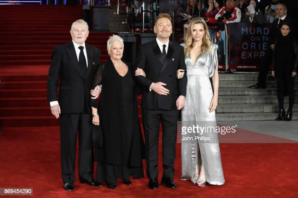 Derek Jacobi Judi Dench Kenneth Branagh and Michelle Pfeiffer attend the 'Murder On The Orient Express' World Premiere at Royal Albert Hall on...