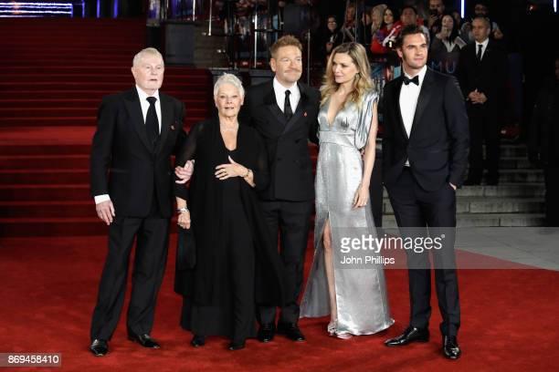 Derek Jacobi Judi Dench Kenneth Branagh Michelle Pfeiffer and Tom Bateman attend the 'Murder On The Orient Express' World Premiere at Royal Albert...