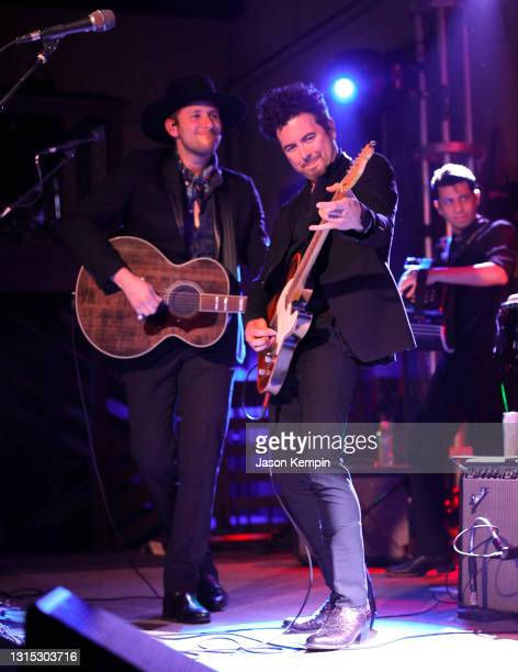 Derek James and Jerry Fuentes of The Last Bandoleros perform at 3rd & Lindsley on April 29, 2021 in Nashville, Tennessee.