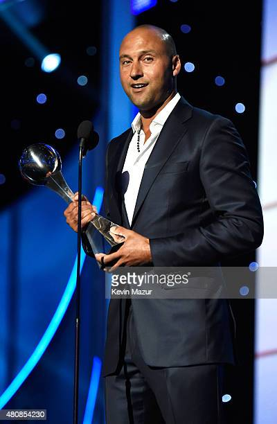 Derek Jeter accepts the ICON award at The 2015 ESPYS at Microsoft Theater on July 15 2015 in Los Angeles California