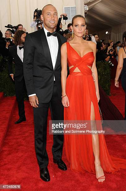 Derek Jeter and Hannah Davis arrives at China Through The Looking Glass Costume Institute Benefit Gala at the Metropolitan Museum of Art on May 4...