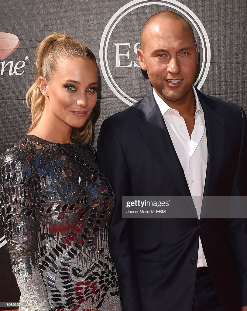 Derek Jeter and Hannah Davis attend The 2015 ESPYS at Microsoft Theater on July 15, 2015 in Los Angeles, California.