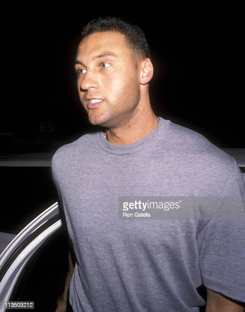 Derek Jeter during New York Yankees World Series Victory Party October 26 2000 at Club 157 in New York City New York United States