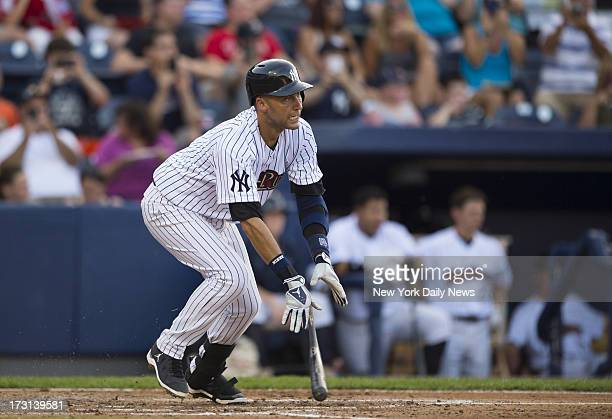 Derek Jeter has rehab assignment with the Scranton/Wilkes-Barre Raiders in their game against the Lehigh Valley Ironpigs at PNC Field.