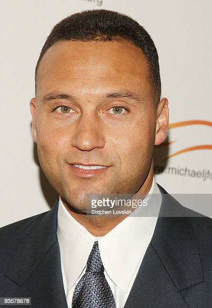 Derek Jeter of the New York Yankees attends the A Funny Thing Happened on the Way to Cure Parkinsons benefit for the Michael J Fox Foundation at the...