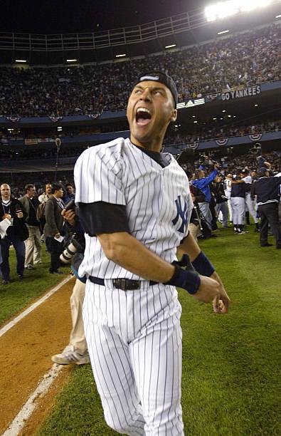 Jeter celebrates win