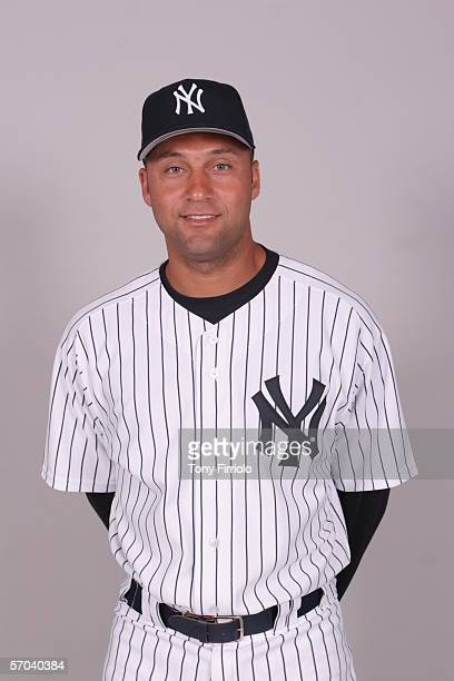 Derek Jeter of the New York Yankees during photo day at Legends Field on February 24 2006 in Tampa Florida