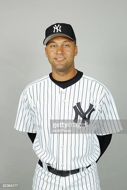 Derek Jeter of the New York Yankees poses for a portrait during photo day at Legends Field on February 25 2005 in Tampa Florida