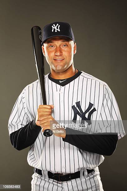 Derek Jeter of the New York Yankees poses for a portrait on Photo Day at George M Steinbrenner Field on February 23 2011 in Tampa Florida