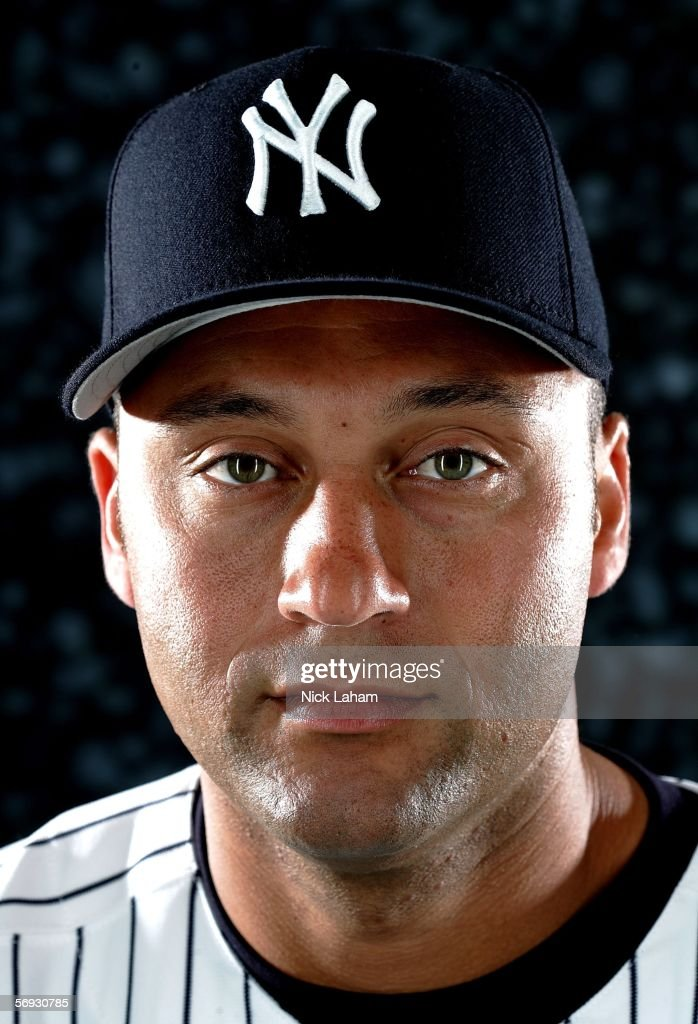 Derek Jeter of the Yankees poses for a portrait during the New York Yankees Photo Day at Legends Field on February 24, 2006 in Tampa, Florida.