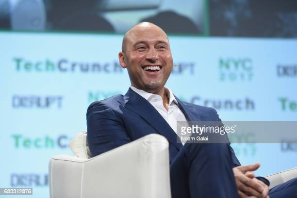 Derek Jeter speaks onstage during TechCrunch Disrupt NY 2017 at Pier 36 on May 15 2017 in New York City