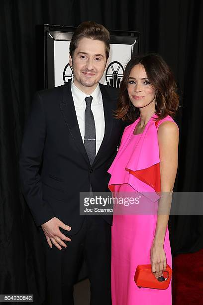 Derek Johnson and Abigail Spencer arrice at the 40th Annual Los Angeles Film Critics Association Awards at InterContinental Hotel on January 9 2016...