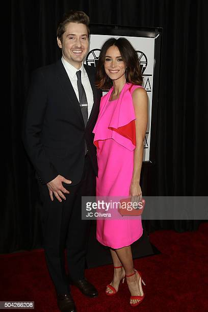 Derek Johnson and Abigail Spencer attend The 40th Annual Los Angeles Film Critics Association Awards at InterContinental Hotel on January 9 2016 in...