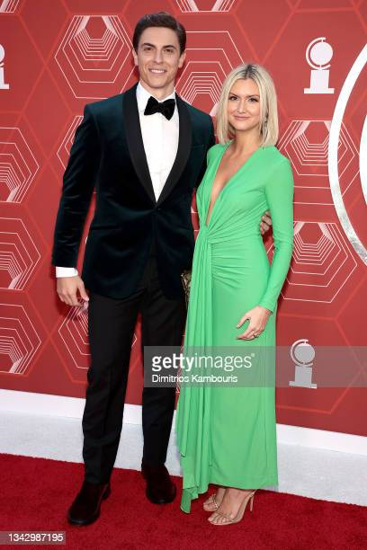 Derek Klena and Elycia Scriven attend the 74th Annual Tony Awards at Winter Garden Theater on September 26, 2021 in New York City.
