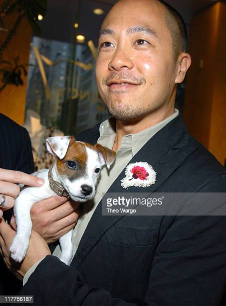 Derek Lam with Anchovy during Designer Derek Lam Celebrates his Resort Collection hosted by Maurice Villency at Maurice Villency Showroom in New York...