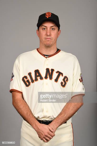 Derek Law of the San Francisco Giants poses during Photo Day on Tuesday February 20 2018 at Scottsdale Stadium in Scottsdale Arizona