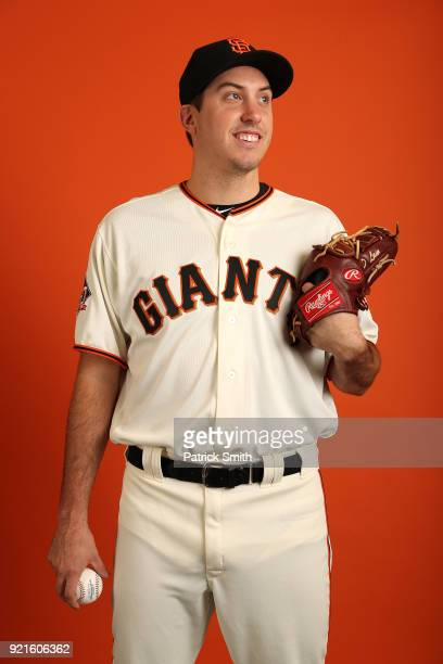 Derek Law of the San Francisco Giants poses on photo day during MLB Spring Training at Scottsdale Stadium on February 20 2018 in Scottsdale Arizona