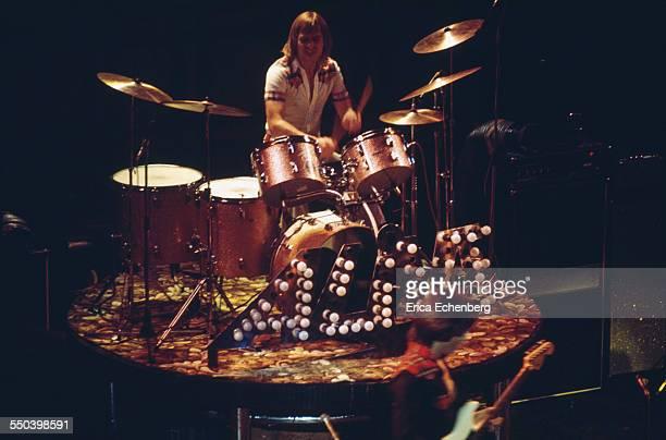 Derek Longmuir of Bay City Rollers performs on stage New Victoria Theatre London United Kingdom 1977