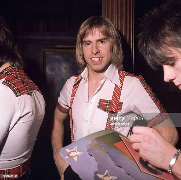 Derek Longmuir of pop group the Bay City Rollers poses in May 1976 in Copenhagen Denmark