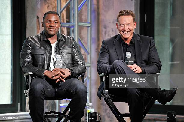 Derek Luke and Cole Hauser attend AOL Build Presents Actors Derek Luke and Cole Hauser at AOL Studios In New York on June 24 2015 in New York City