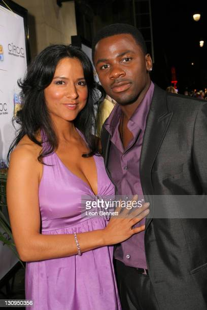 Derek Luke and guest arrive at the Offical 2008 BET AWARDS After Party on June 24 2008 in Hollywood California