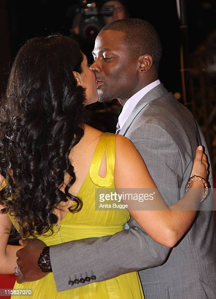 Derek Luke and his wife Sophia attend the premiere for 'Notorious' as part of the 59th Berlin Film Festival at the Berlinale Palast on February 11...