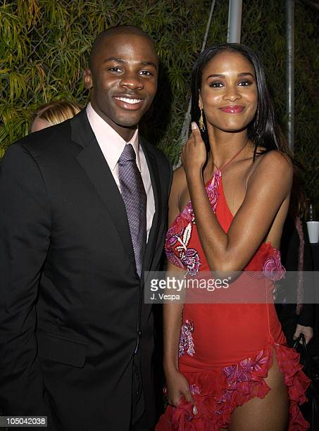 Derek Luke and Joy Bryant during 34th NAACP Image Awards Zino Platinum Talent Lounge at Universal Amphitheatre in Universal City California United...