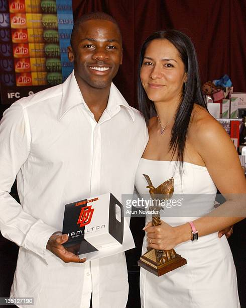 Derek Luke and wife Sophia Luke during The 18th Annual IFP Independent Spirit Awards Official Talent Gift Bag Produced by On 3 Productions at Santa...