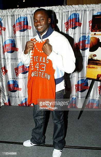 Derek Luke during The Cast of 'Glory Road' Appears at Planet Hollywood in Times Square January 11 2006 at Planet Hollywood in New York City New York...
