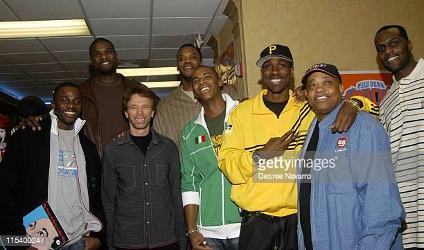 Derek Luke Jerome James of New York Knicks Jerry Bruckheimer Antonio Davis of New York Knicks Mehcad Brooks Al Shearer Willie Worsley and Malik Rose...