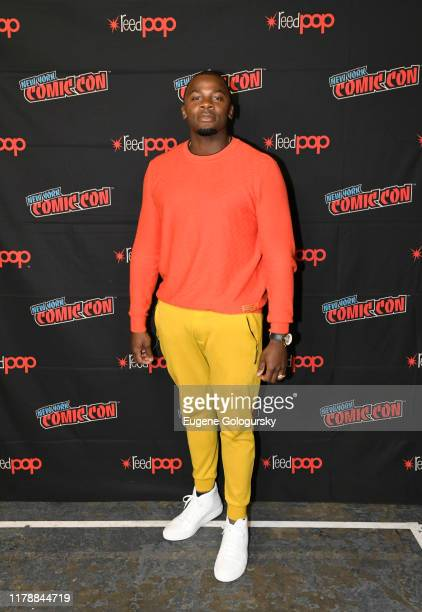 Derek Luke poses after the USA's The Purge Premiere Screening and Panel the New York Comic Con at Jacob K. Javits Convention Center on October 03,...