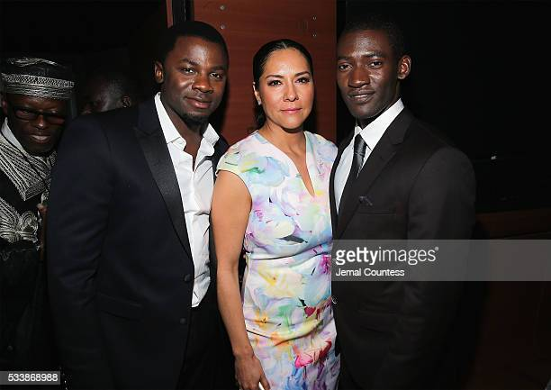 Derek Luke Sophia Luke and Malachi Kirby attend the premiere screening of 'Night One' of the four night epic event series 'Roots' hosted by HISTORY...
