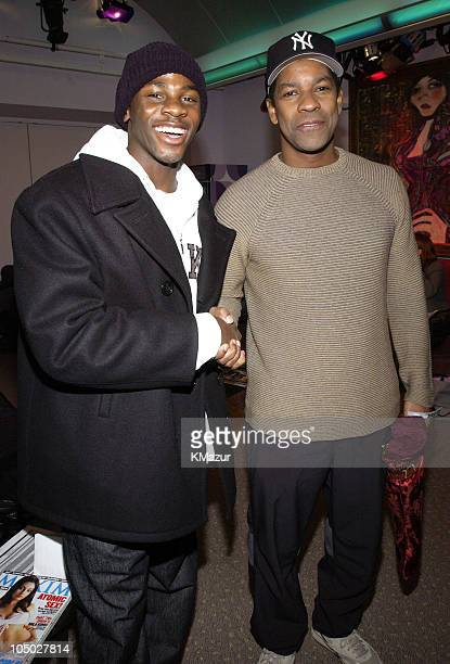Derek Luke star of 'Antwone Fisher' and director/producer Denzel Washington
